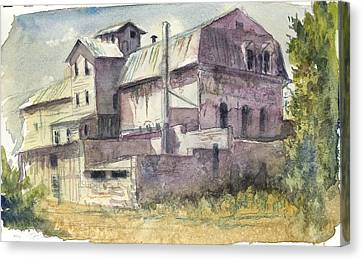 The Old Grain And Feed Store Canvas Print