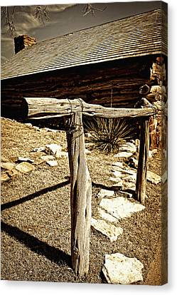 The Old Hitching Post Canvas Print by Lincoln Rogers