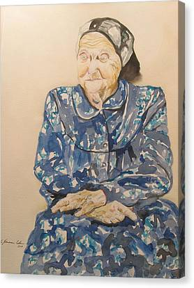 The Old Holocaust Survivor Canvas Print by Esther Newman-Cohen