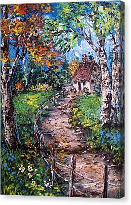 Canvas Print featuring the painting The Old Homestead by Megan Walsh