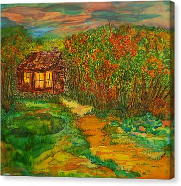 Canvas Print featuring the painting The Old Homestead by Susan D Moody