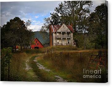 The Old Homestead Canvas Print by T Lowry Wilson
