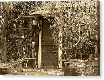 Trees Canvas Print - The Old House In Genoa Nevada by Artist and Photographer Laura Wrede