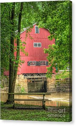 Old Mills Canvas Print - The Old Indian Mill by Pamela Baker
