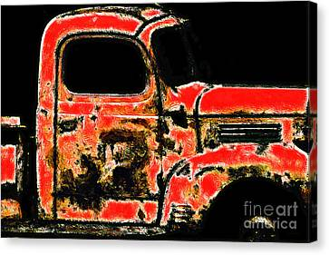 The Old Jalopy 7d22382 Canvas Print by Wingsdomain Art and Photography