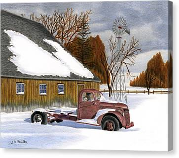 The Old Jalopy Canvas Print