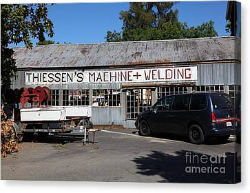 The Old Machine And Welding Shop Pleasanton California 5d23980 Canvas Print by Wingsdomain Art and Photography