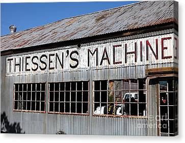 The Old Machine And Welding Shop Pleasanton California 5d23982 Canvas Print by Wingsdomain Art and Photography