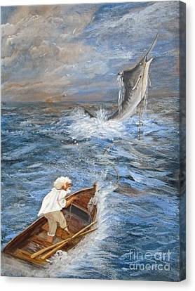 The Old Man And The Sea Canvas Print by Sharon Burger