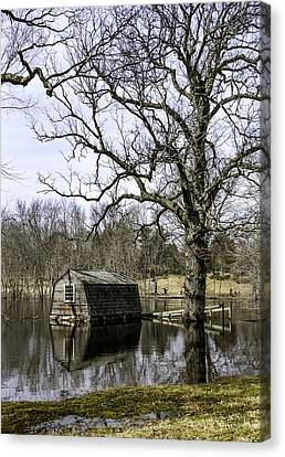 The Old Manse Boathouse Canvas Print by Betty Denise