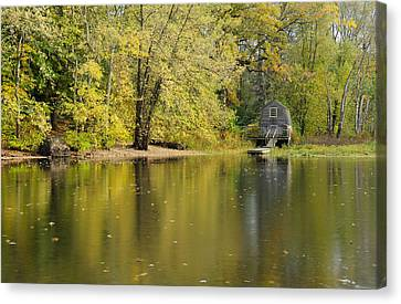 The Old Manse Boathouse Canvas Print by Luke Moore