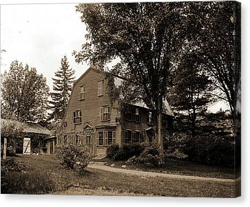 Concord Massachusetts Canvas Print - The Old Manse, Concord, Massachusetts, Hawthorne by Litz Collection