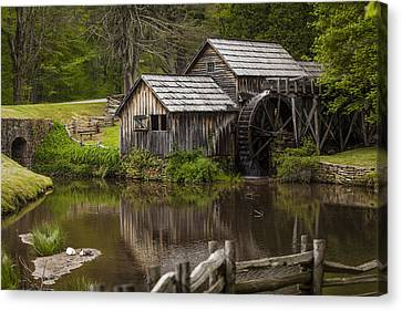 The Old Mill After The Rain Canvas Print by Amber Kresge