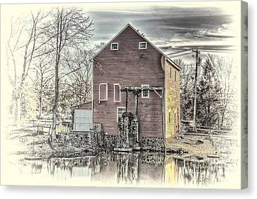The Old Mill Canvas Print by Arnie Goldstein