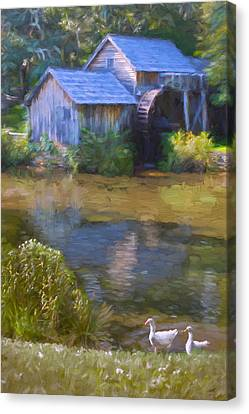 The Old Mill At Mabry Canvas Print by Jean-Pierre Ducondi
