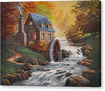 Grist Canvas Print - The Old Mill by Gary Adams