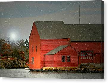 The Old Mill Kirby Pond Canvas Print by Diana Angstadt