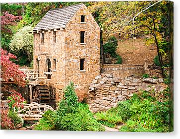 The Old Mill - Pugh's Mill In Little Rock Arkansas Canvas Print by Gregory Ballos
