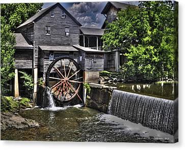 The Old Mill Restaurant Canvas Print by Deborah Klubertanz
