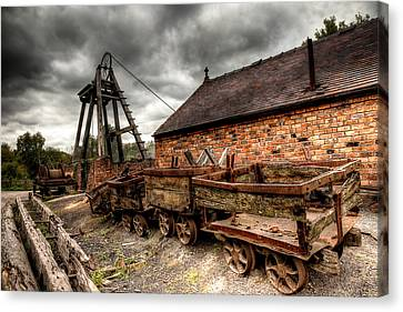 Chimney Canvas Print - The Old Mine by Adrian Evans