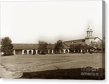 The Old Mission San Juan Bautista Circa 1907 Canvas Print by California Views Mr Pat Hathaway Archives