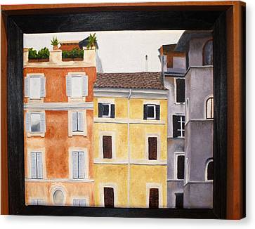 The Old Neighborhood Canvas Print by Karin Thue