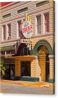Historic Architecture Canvas Print - The Old Opera House by Kim Hojnacki