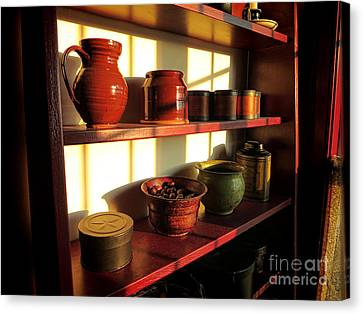 Old Pitcher Canvas Print - The Old Pantry by Olivier Le Queinec