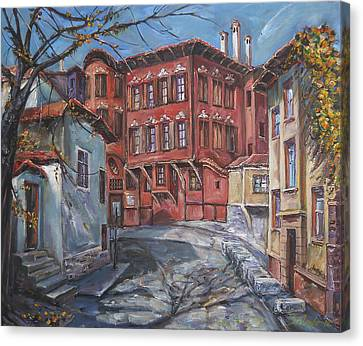 The Old Plovdiv - Autumn Sun Canvas Print by Stefano Popovski