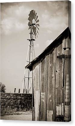 Canvas Print featuring the photograph The Old Ranch by Amber Kresge
