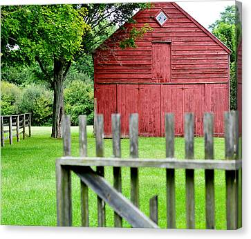 The Old Red Barn Canvas Print by Laura Fasulo
