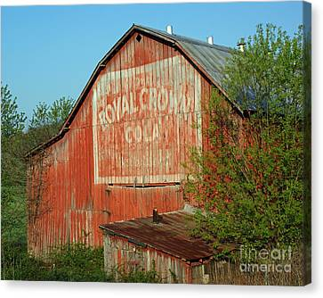 The Old Red Barn Canvas Print by Roger Potts