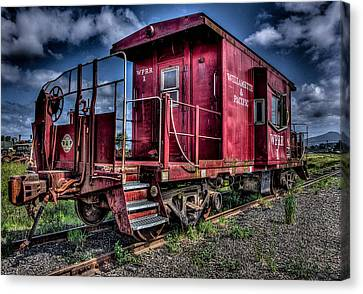 Canvas Print featuring the photograph Old Red Caboose by Thom Zehrfeld