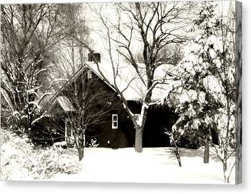 The Old Red House Canvas Print by Heather Allen