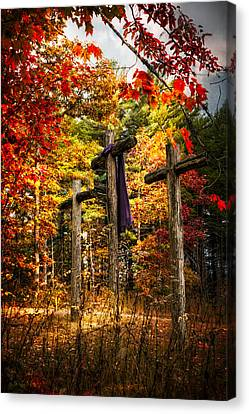 The Old Rugged Cross Canvas Print by Debra and Dave Vanderlaan