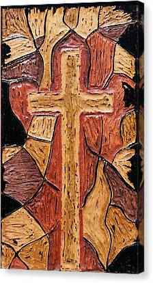 The Old Rugged Cross Canvas Print by Lisa Brandel