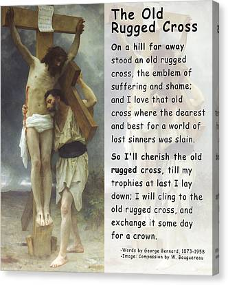 The Old Rugged Cross Canvas Print by William Bouguereau