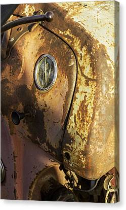 The Old Rustic Tractor-one Canvas Print by David Allen Pierson