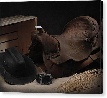 Canvas Print featuring the photograph The Old Saddle by Krasimir Tolev