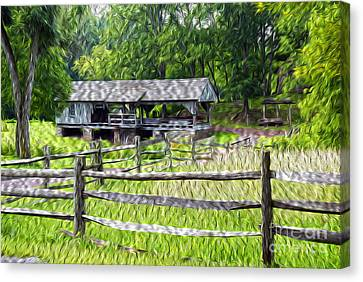 The Old Sawmill Canvas Print by Paul W Faust -  Impressions of Light