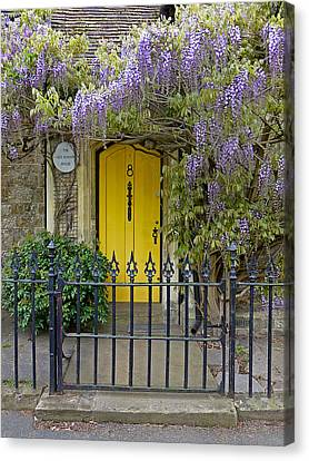 Old School Houses Canvas Print - The Old School House Door by Gill Billington