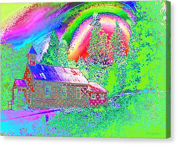 The Old Schoolhouse Library Again Canvas Print by Joyce Dickens