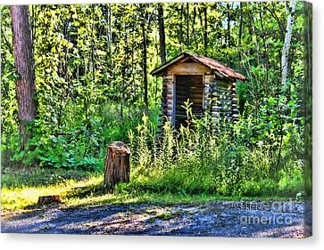 The Old Shed Canvas Print by Cathy  Beharriell