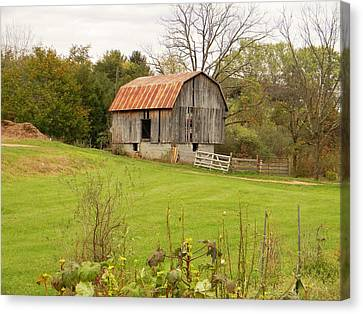 Canvas Print featuring the photograph The Old Shed by Jean Goodwin Brooks