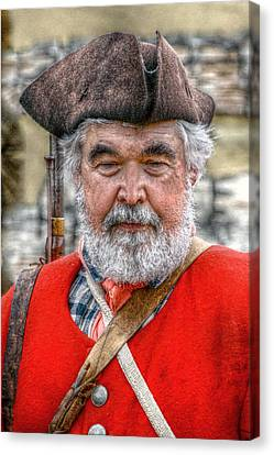 The Old Soldier Canvas Print by Randy Steele