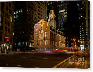 The Old State House Canvas Print by Sabine Edrissi