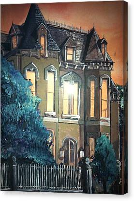 The Old Stegmeier Mansion Canvas Print by Alexandria Weaselwise Busen