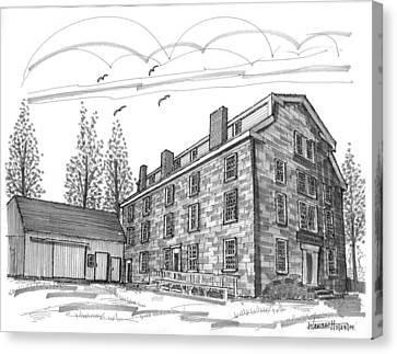 Old School Houses Canvas Print - The Old Stone House by Richard Wambach