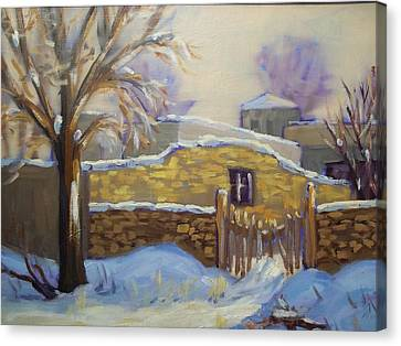 The Old Stone Wall Canvas Print by Robert Martin