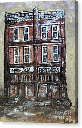 Canvas Print featuring the painting The Old Store by Eloise Schneider